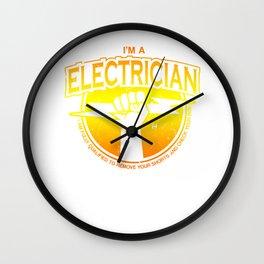 electrician electricity lightning stroke lightning shop gift Wall Clock