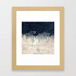 world map wanderlust forest 2 Framed Art Print
