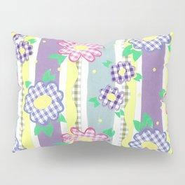 Gingham Floral Spring Stripe by Nettie Heron-Middleton Pillow Sham