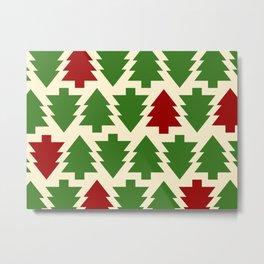 Christmas Pattern - HO-HO-HO Metal Print
