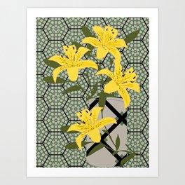 yellow lilies Art Print