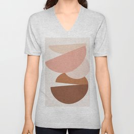 Abstract Stack II Unisex V-Neck