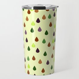 Old school art raindrops print, retro style print Travel Mug