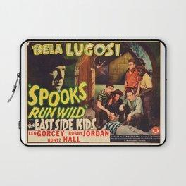 Spooks Run Wild, Bela Lugosi, vintage movie poster Laptop Sleeve