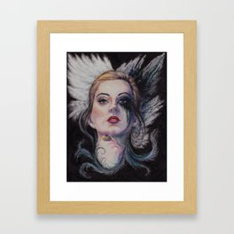 A portrait of claire Framed Art Print