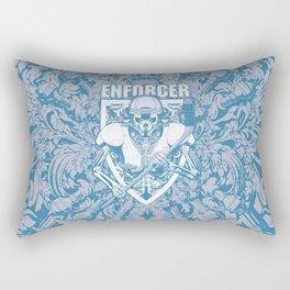 Enforcer Ice Hockey Player Skeleton Rectangular Pillow