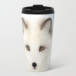 Inquisitive Arctic Fox Travel Mug