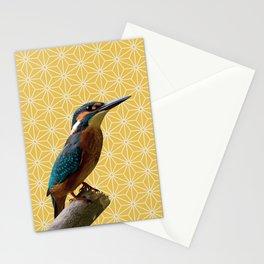 Kingfisher Montage (Light Mustard) Stationery Cards