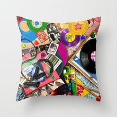 Viva le Vinyl Throw Pillow