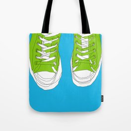 Cons. Art Print. Trainers. Sneakers. Converse All Star. Boys Art. Tote Bag