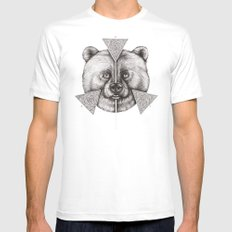 'Natural Symmetry' Mens Fitted Tee White MEDIUM
