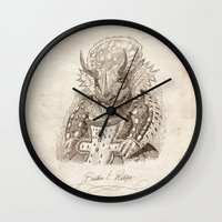 bouletcorp Wall Clocks featuring Béatrice E. Ratops by Bouletcorp