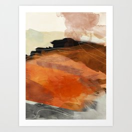 landscape in fall abstract art Art Print