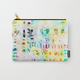 Abstract Puzzle Geos,Watercolor Geometric Painting in Colorful Pastel Carry-All Pouch