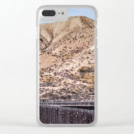 Scenic desert landscape in Tabernas Andalusia in Spain Clear iPhone Case