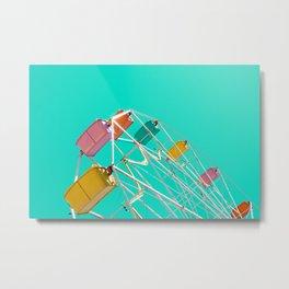Ferris_Wheel - 2, Northern Michigan Metal Print