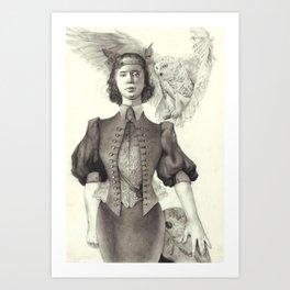 owl maiden Art Print