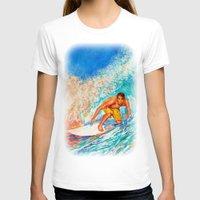 surfer T-shirts featuring Surfer by LiliyaChernaya
