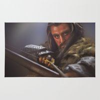 thorin Area & Throw Rugs featuring King Under The Mountain by Laura Racero