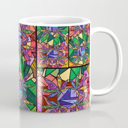 Stained Glass Pot Leaves Coffee Mug
