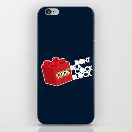 The Dreaded Cock Block iPhone Skin