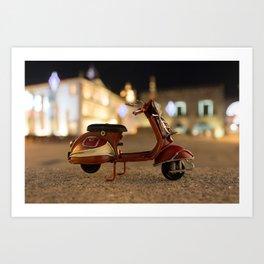 Little Cars, Big Planet (Let's Ride) Art Print