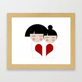 japan animation (in love) Framed Art Print