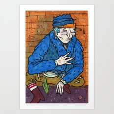 PIMPIN IN BLOOD ALLEY Art Print
