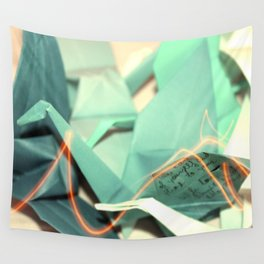 Senbazuru | shades of teal Wall Tapestry