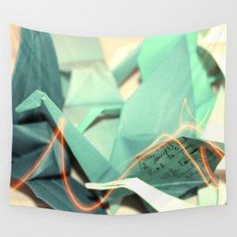 Senbazuru | shades of teal Wall Tapestry
