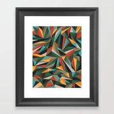 Sliced Fragments II Framed Art Print