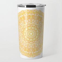 Mandala 13 / 1 yellow Citrine Travel Mug