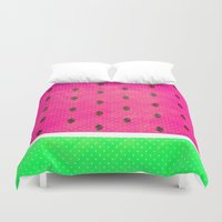 watermelon Duvet Covers featuring Watermelon by M Studio