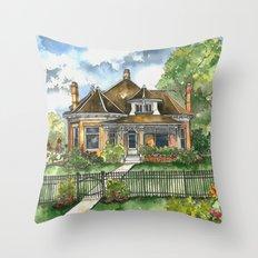 The House on Spring Lane Throw Pillow