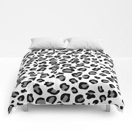gray leopard print Comforters