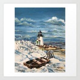 Winter Brant Point Art Print