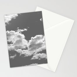clouds grey Stationery Cards