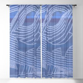 Rhapsody of Ocean and Sky Sheer Curtain