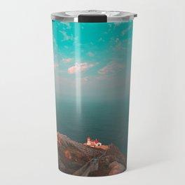 Point Reyes Lighthouse Morning Travel Mug