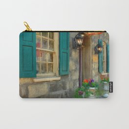 A Victorian Tea Room Carry-All Pouch