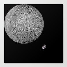 Moon and me Canvas Print