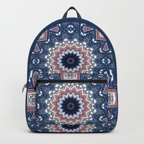 Kaleidoscope .Blue mist . Backpack