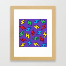 90's Bolt Framed Art Print