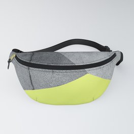 Neon Yellow On Concrete Fanny Pack