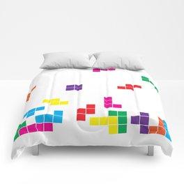 tetris on white Comforters