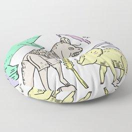 dinosaur friends Floor Pillow