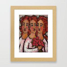 Trio Bridesmaids Framed Art Print