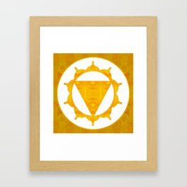 Energy Center Abstract Chakra Artwork Framed Art Print