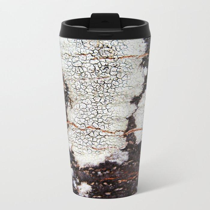 Tree bark naural pattern 2 Metal Travel Mug