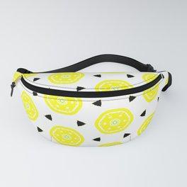 lemon slice geometrical pattern Fanny Pack